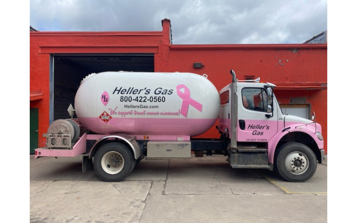 Brest Cancer Awareness Gas Truck Wrap