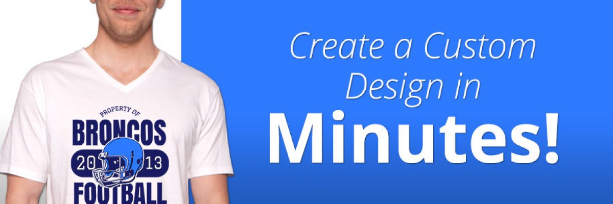 Create a custom design in minutes