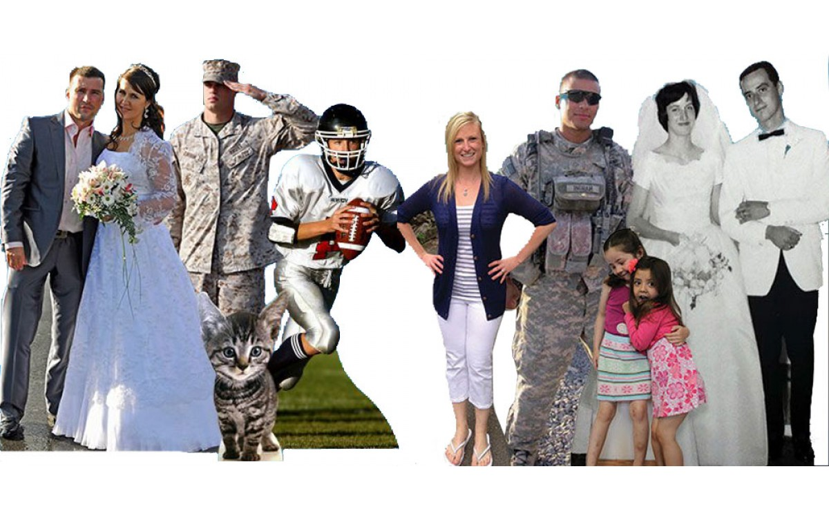 It's easy to enhance any party or event with custom cardboard cutout