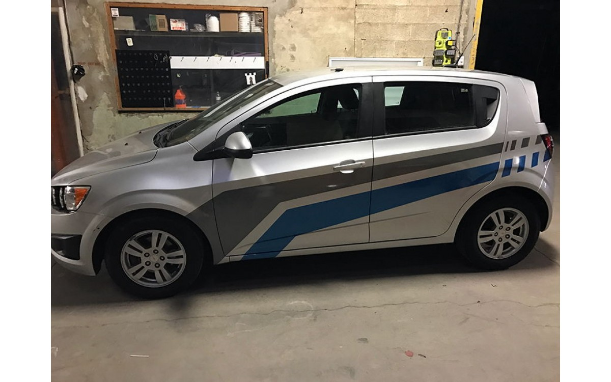 Car graphics to hide dents