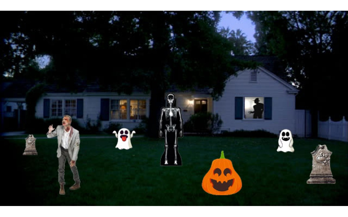 Life Size Custom cutouts make a great Halloween Decoration