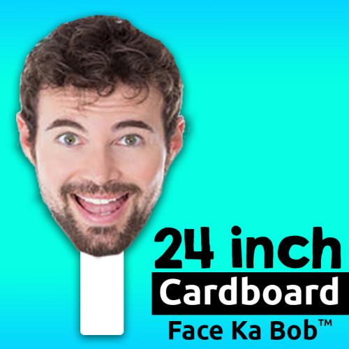 """24"""" Custom Cardboard Face-Ka-Bob"""