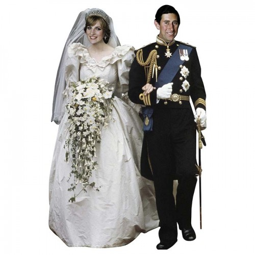 Charles and Diana Cardboard Cutout