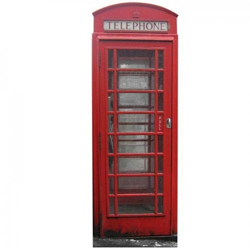 British Telephone Booth Cardboard Cutout