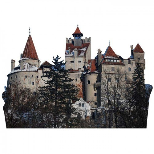 Bran Castle Haunted Cardboard Cutout