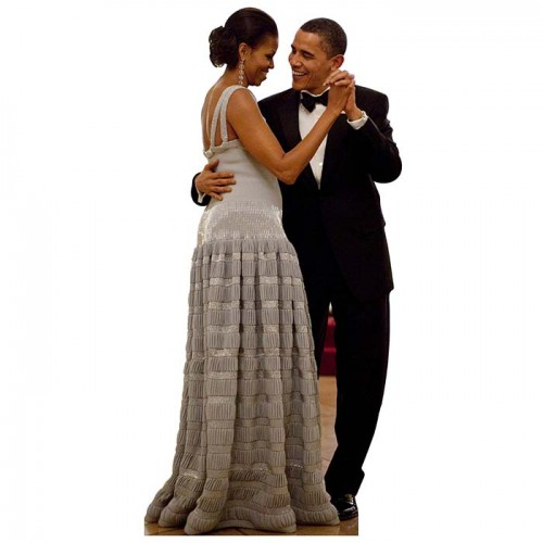 Barack Michelle Obama Dance Cardboard Cutout