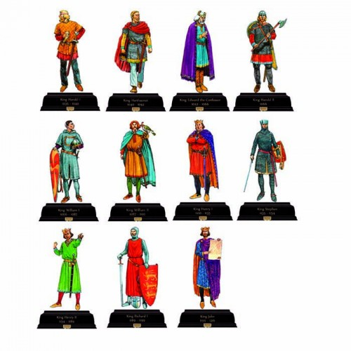 British Kings and Queens Pack 2 1035-1216 Cardboard Cutout