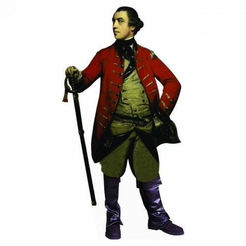 General John Burgoyne Cardboard Cutout