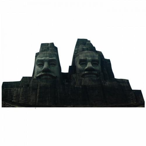 Emperors Yan and Huang Cardboard Cutout