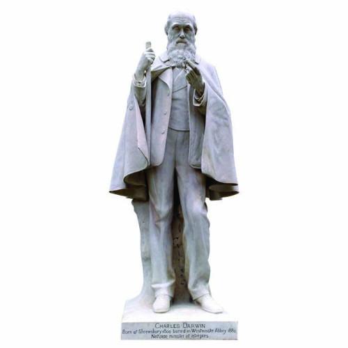 Charles Darwin Satue Standing Cardboard Cutout