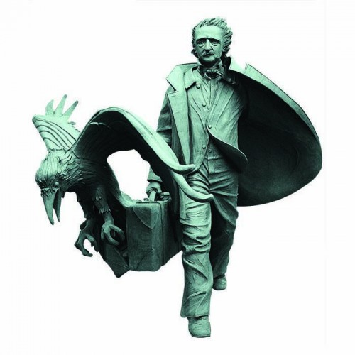 Edgar Allan Poe Statue Cardboard Cutout