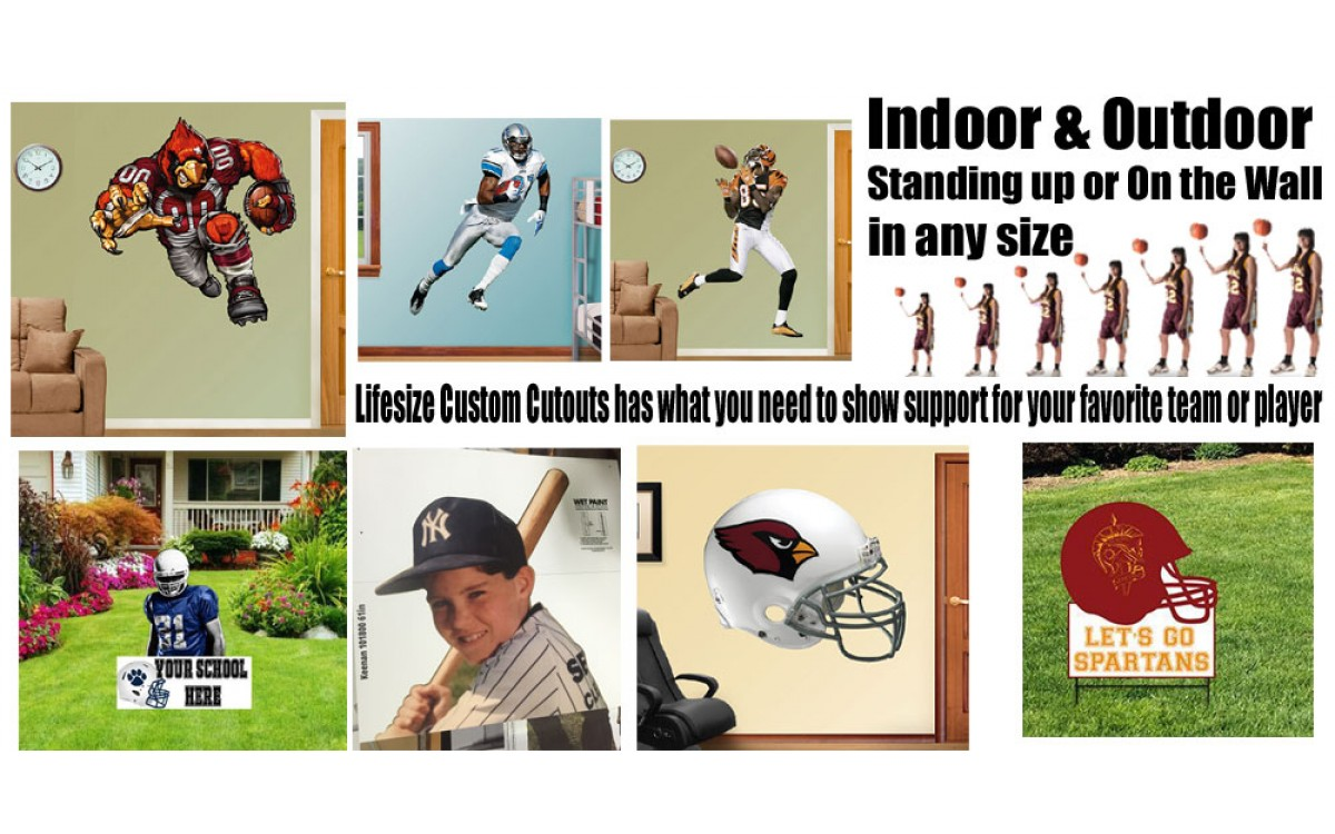 Kickoff the Football season with a cardboard cutout or wall decal.